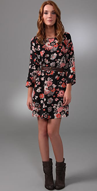 Joie Cartoon Floral Mae Dress with Wrap Belt