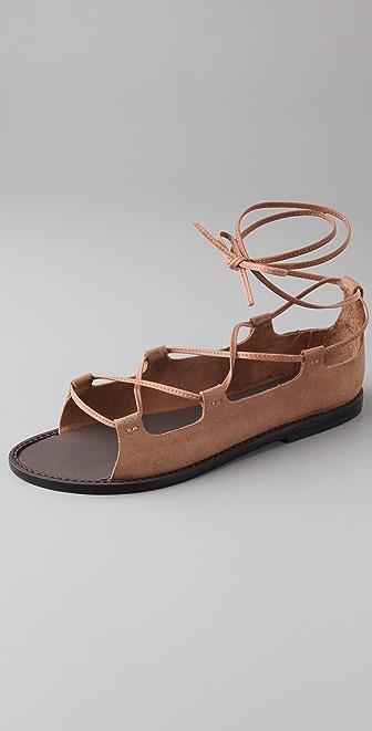 Joie Cabaret Lace Up Flat Sandals