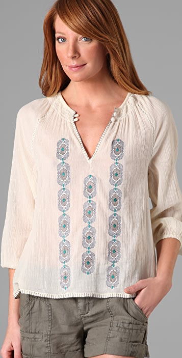 Joie Mickey Embroidered Top