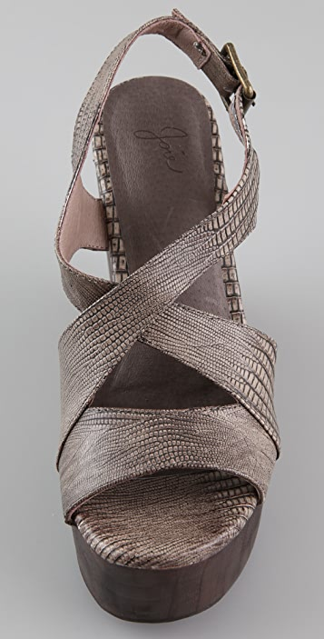 Joie Windy Lizard Wedge Sandals
