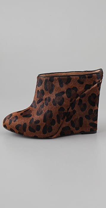 Joie Live It Up Leopard Wedge Mules
