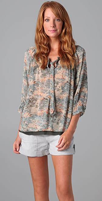 Joie Perry Watercolor Blouse