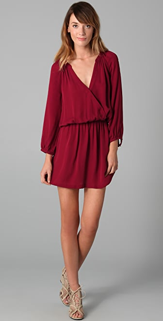 Joie Molly Matte Silk Dress
