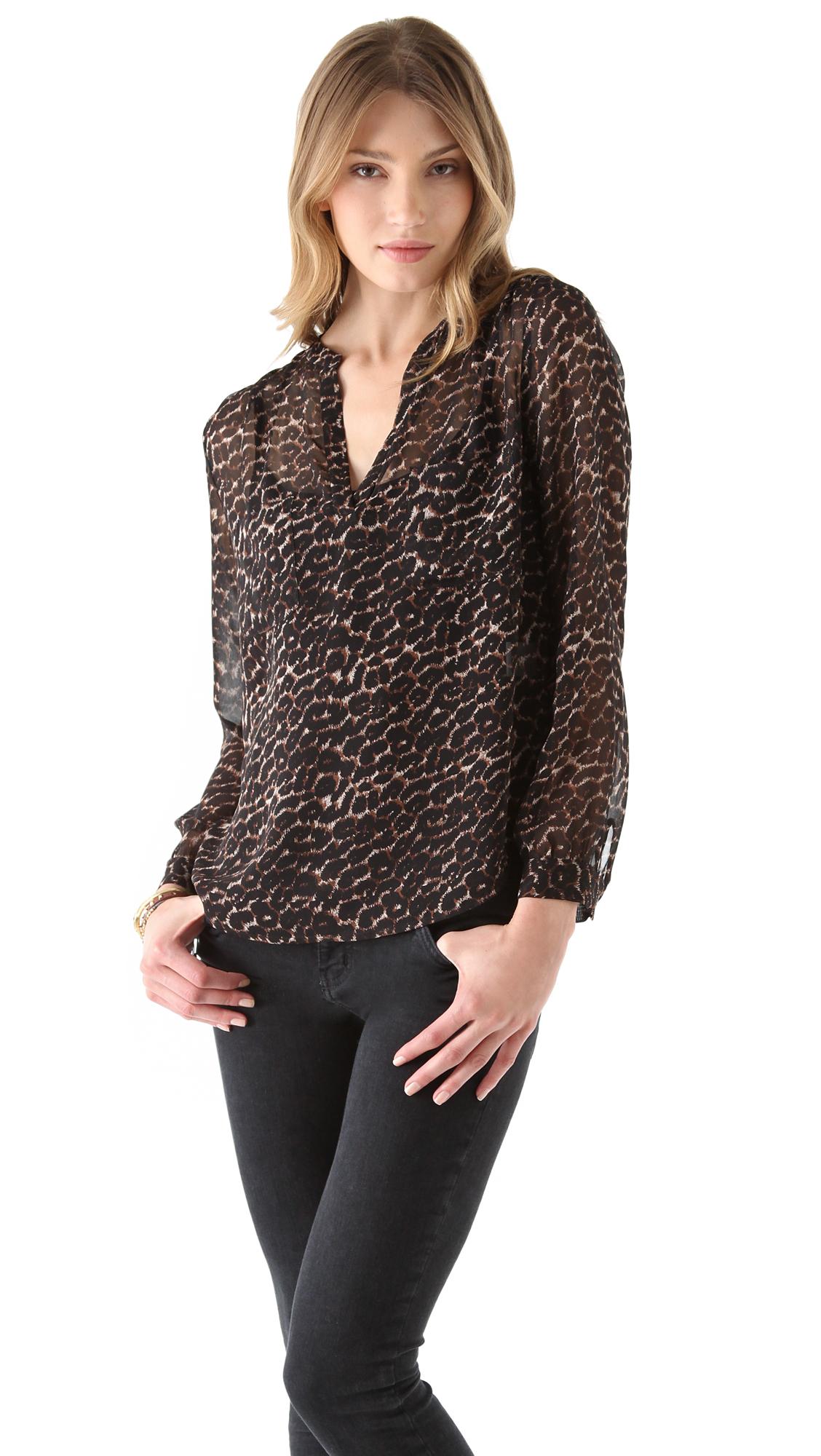 af639dc6438751 Joie Adana Leopard Blouse | SHOPBOP