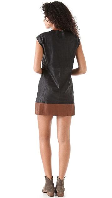Joie Aloisa B Leather Dress