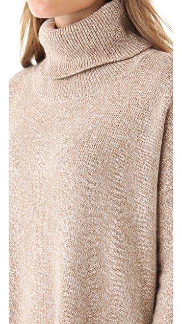 Joie Clover Marble Knit Turtleneck