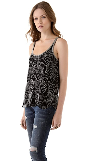 Joie Devani Beaded Top