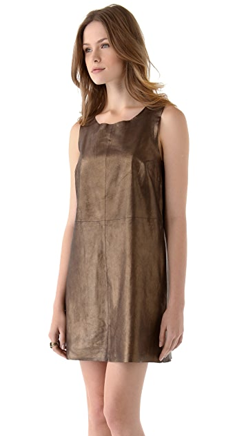 Joie Sonata Leather Dress