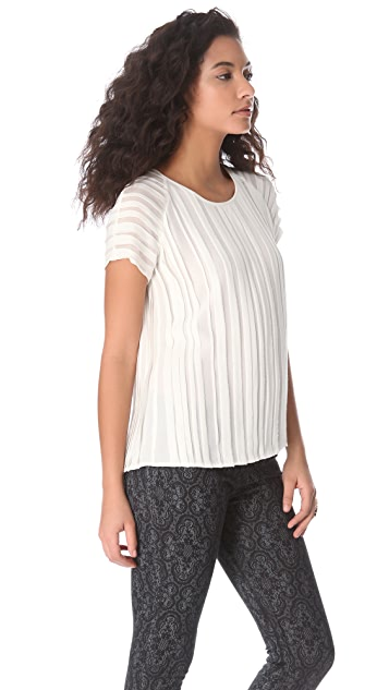 Joie Leanna Raw Edge Top