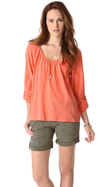 Joie Heron Scoop Neck Blouse