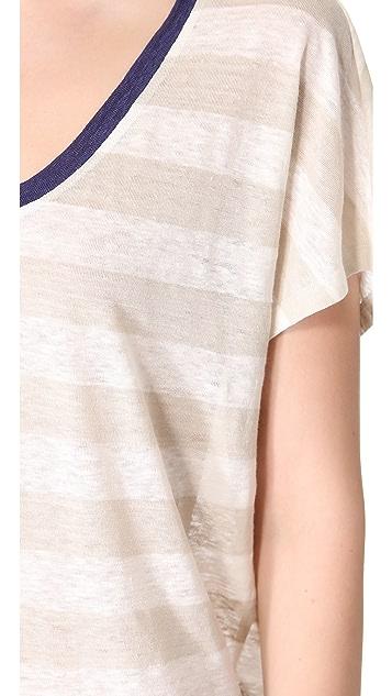 Joie Maddie Striped Linen Tee