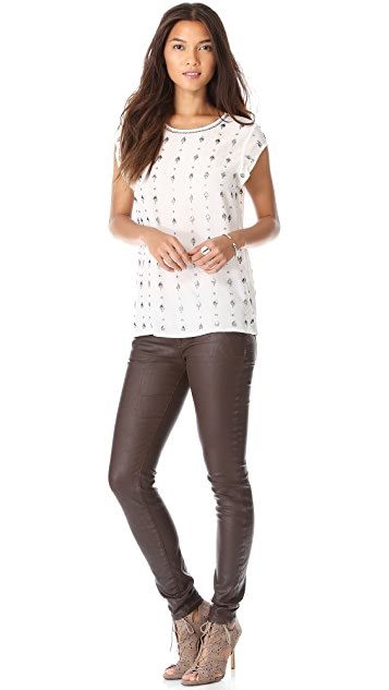 Joie Clarine Embellished Top