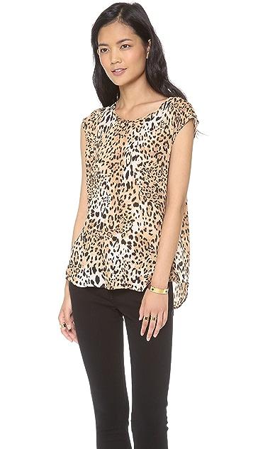 Joie Torrance Leopard Print Top