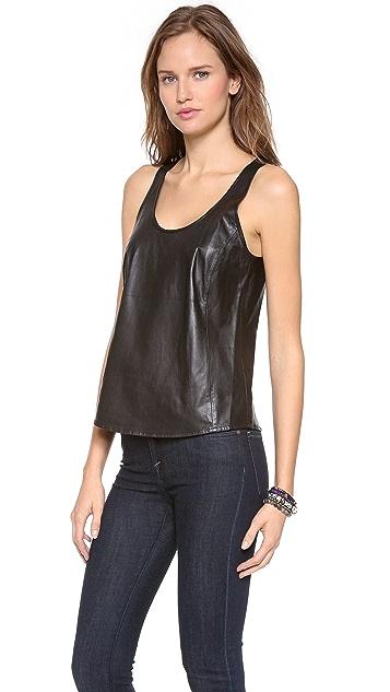 Joie Rain D Leather Top
