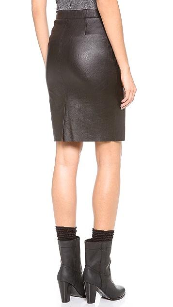 Joie Sariden Leather Skirt