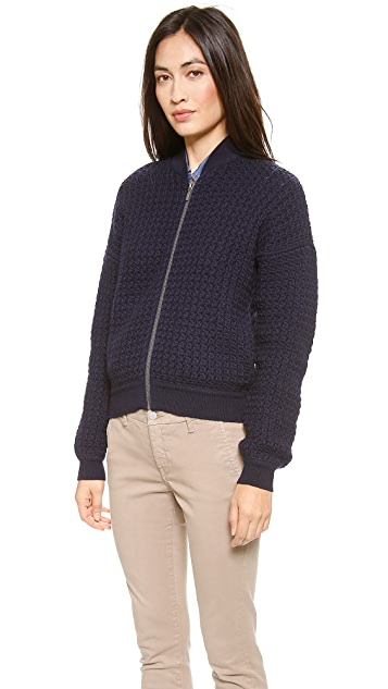 Joie Donelle Knit Bomber Jacket