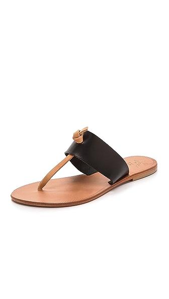 Joie A la Plage Nice Thong Sandals - Black/Natural