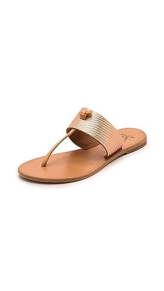Joie A la Plage Nice Metallic Thong Sandals - Rosegold