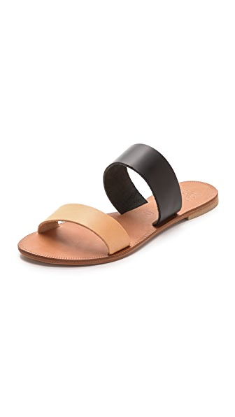 Joie A La Plage Sable Two Band Sandals - Black/Natural