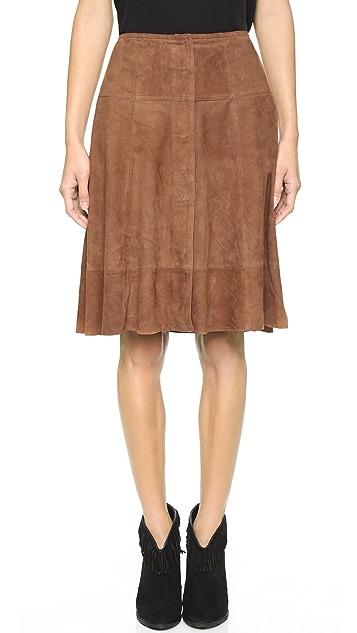 Joie Mylon Suede Skirt