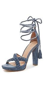 Flo Ankle Wrap Sandals                Joie
