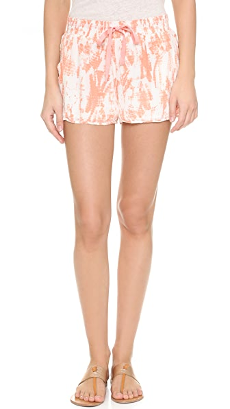 Joie Layana Tie Dye Silk Shorts - Burnt Coral at Shopbop