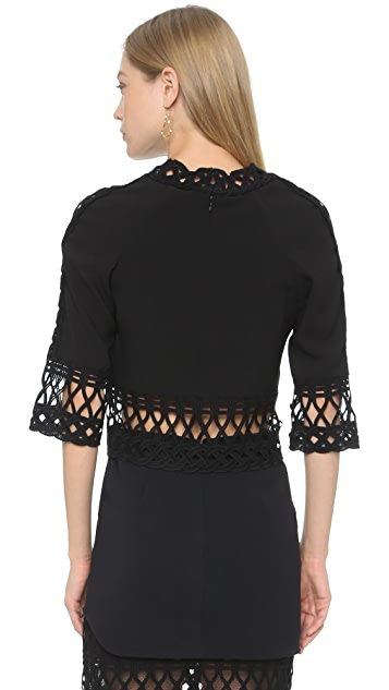 Jonathan Simkhai Tread Lace Crop Top