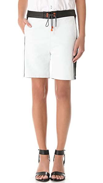 Jonathan Simkhai Leather Board Shorts