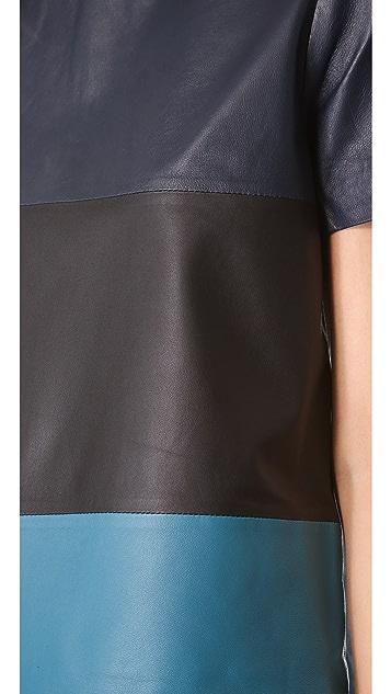 Jonathan Simkhai Colorblock Leather Tee