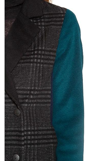 Jonathan Simkhai Long Colorblock Coat