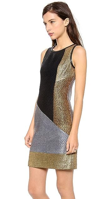 Jonathan Simkhai Colorblock Boucle Dress