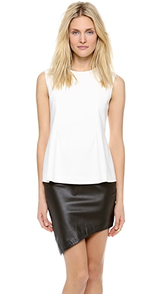 Jonathan Simkhai A Line Pleated Top