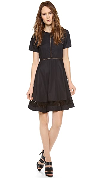 Jonathan Simkhai Peek-A-Boo Eyelet Dress