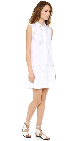 Jonathan Simkhai Flared Eyelet Dress