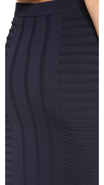 Jonathan Simkhai Embossed Stretch Knit Skirt