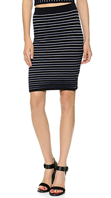 Jonathan Simkhai Knit Ribbed Pencil Skirt