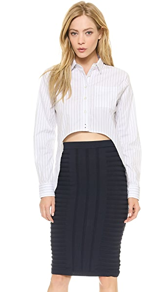 Jonathan Simkhai High Low Oxford Top