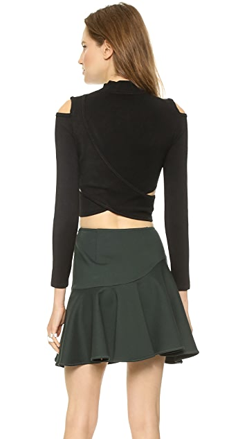 Jonathan Simkhai Crossover Turtleneck Top