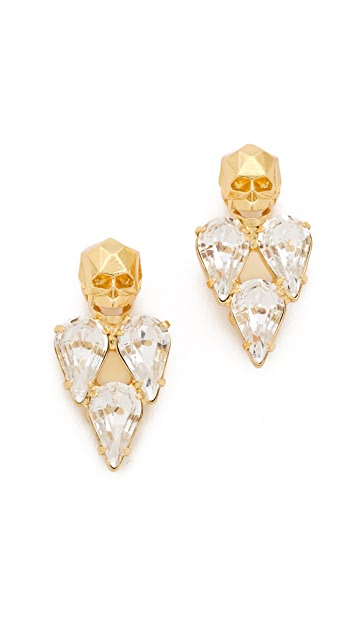 Joomi Lim London Calling Skull Earrings