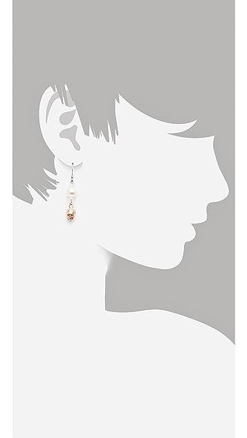 Joomi Lim London Calling Asymmetric Earrings