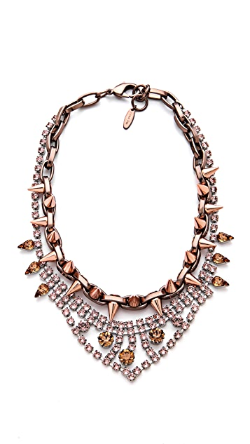 Joomi Lim Metal Luxe Crystal & Spike Necklace
