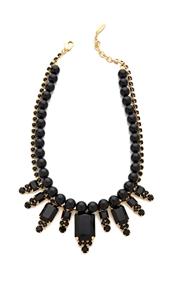 Joomi Lim Baroque Punk Crystal Necklace with Pearls