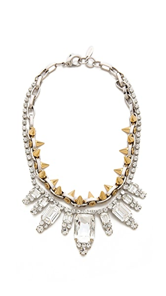 Joomi Lim Baroque Punk Crystal & Spike Necklace