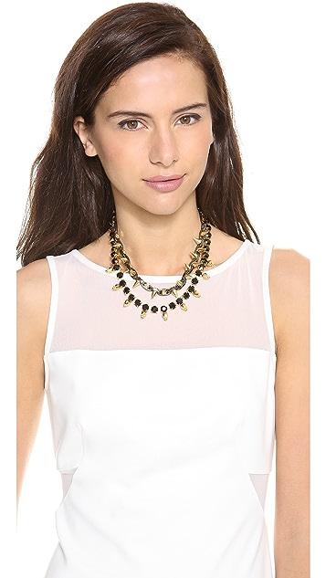 Joomi Lim Baroque Punk Crystal Skull & Spike Necklace