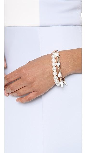 Joomi Lim White Out Chain & Spike Bracelet