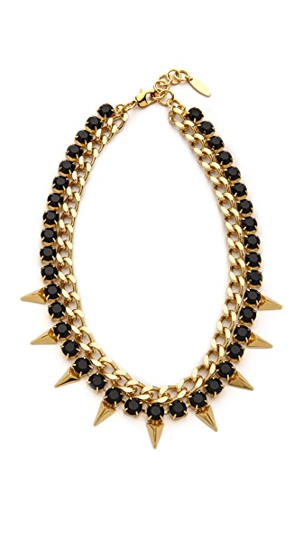 Joomi Lim Vicious Love Chain & Pyramid Necklace