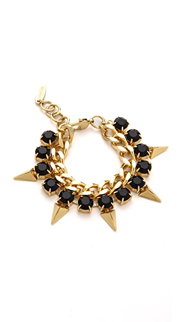 Joomi Lim Vicious Love Chain & Pyramid Bracelet