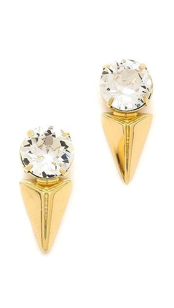 Joomi Lim Vicious Love Crystal & Pyramid Earrings
