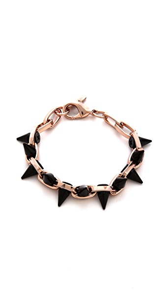 Joomi Lim Black Out Double Row Spike Bracelet
