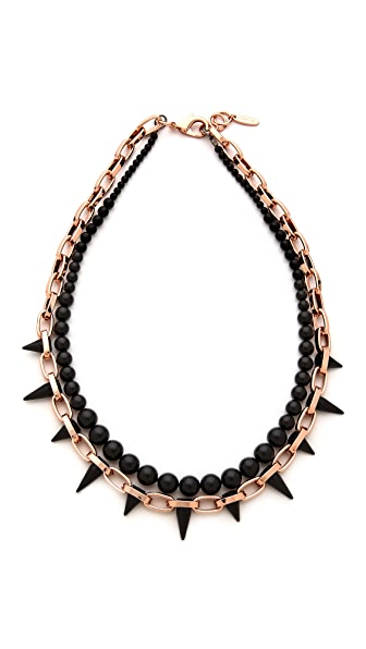 Joomi Lim Midnight Rose Long Chain & Spike Necklace